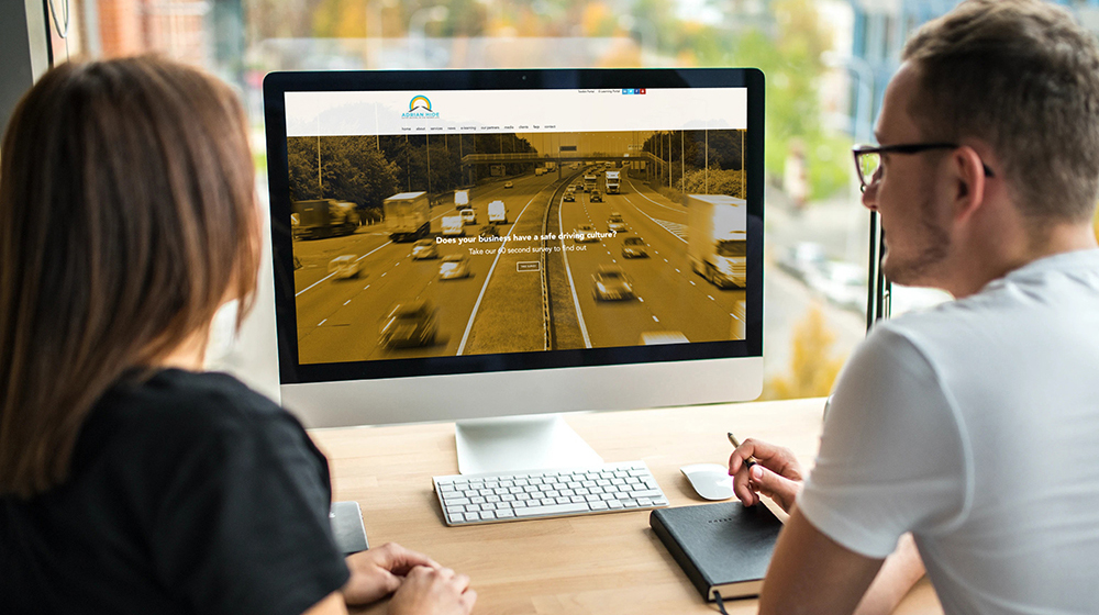 Adrian Hide Consultancy rebrand - website design